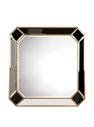 Camille Mirror Accented Wall Mirror, Gold Leaf