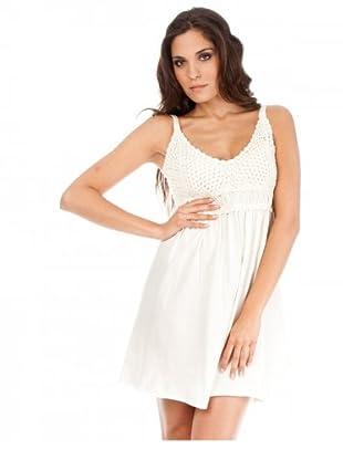 Cortefiel Kleid gehäkelt (Offwhite)