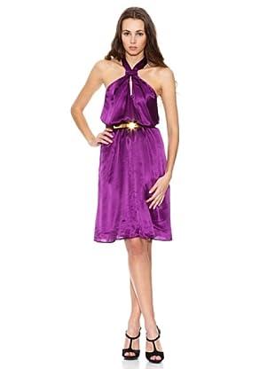 Mango Vestido Abril (Púrpura)