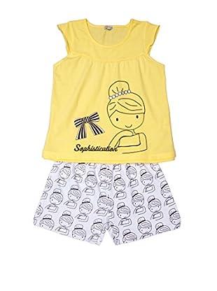 Pillerias Pijama Chica Yolco (Amarillo / Blanco)