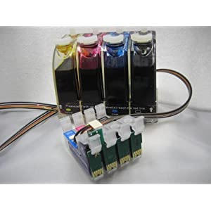 Gigablock CIS CISS Continuous Ink Supply System For Epson Expression XP 200 XP 300 XP 400 WF-2530 WF-2540 by komeka