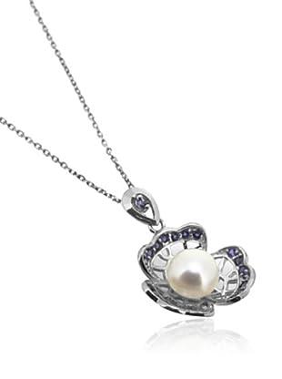 Melin Paris Collar Iolite and White Pearl Plata