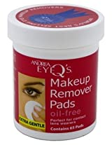 Andrea Eye Q'S 65'S Oil Free White (3 Pack)