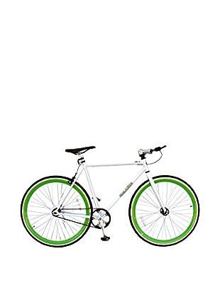 Galaxie Fixed Gear Bike, White/New/Green, 54cm