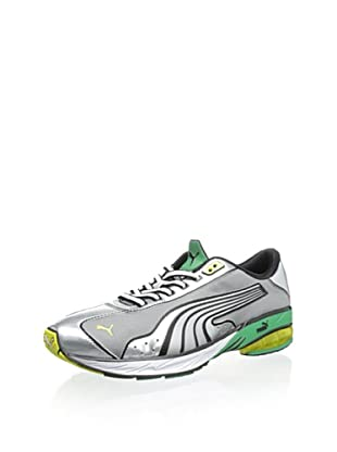 PUMA Men's Toori Run M Running Shoe (Puma Silver/Black)