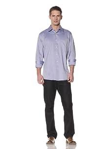 XMI Men's Textured Dress Shirt (Blue)