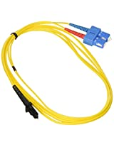 Monoprice 104897 2-Meters MTRJ/SC Single Mode Duplex Fiber Optic Cable - Yellow