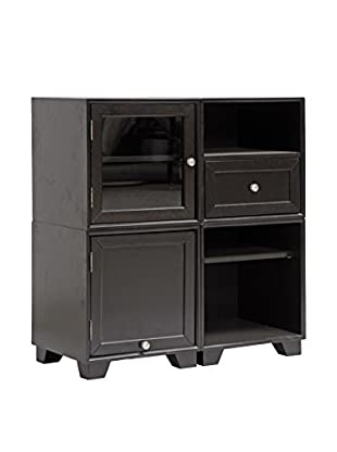 Baxton Studio Alaska Modular Storage Cabinet, Dark Brown