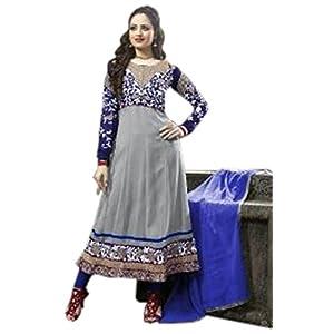 Bhuwal Fashion Sky Blue Faux Georgette Long Anarkali Salwar Suit