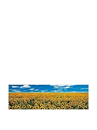 ArtopWeb Panel de Madera Anthea A Sunflower Field In Provence 100x29 cm