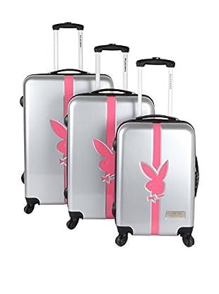 Playboy Set de 3 trolleys rígidos AXH