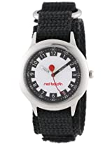 Red Balloon Kids W000186 Time Teacher Stainless Steel Watch with Adjustable Black Nylon Strap