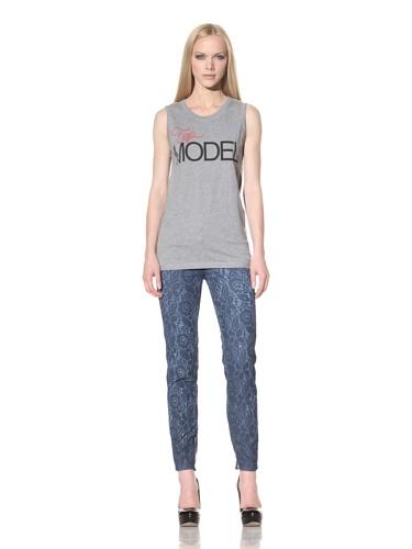 D&G by Dolce & Gabbana Women's Top Model Sleeveless Tee (Grey)