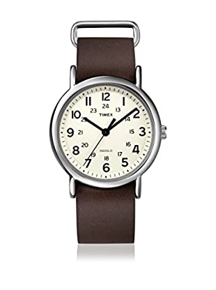 TIMEX Reloj de cuarzo Unisex Unisex Weekender Slip Through Marrón Oscuro 38 mm