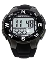 Optima 20001 BLK Unisex Watch, black, grey