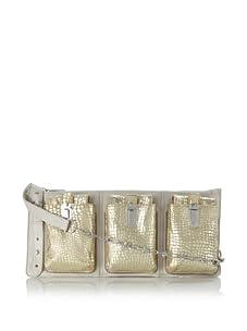 Gryson Women's Riley Triple Pocket Cross-Body, Latte Multi