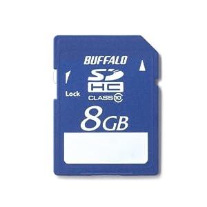 【クリックでお店のこの商品のページへ】BUFFALO Class10 SDHCカード 8GB RSDC-8GC10/E [フラストレーションフリーパッケージ (FFP)]: パソコン・周辺機器