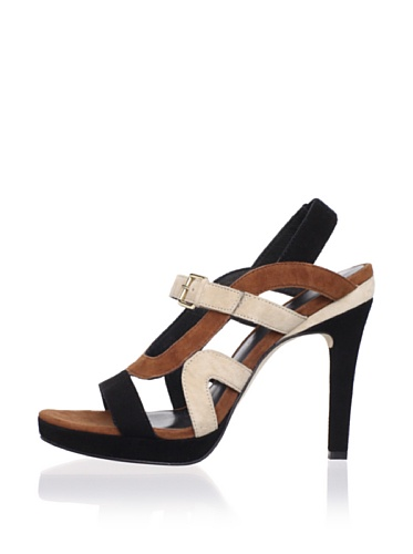 Rebecca Minkoff Women's Bless Sandal (Black/Cream)