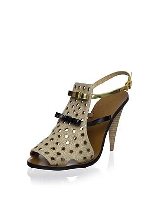 Fendi Women's Peep-Toe Slingback (Beige)