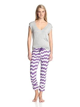 40 Winks Women's 2-Piece Pajama Set (Gatsby Hearts)