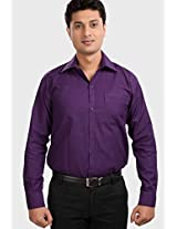 Purple Slim Fit Formal Shirt Ishin
