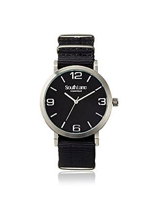 South Lane Men's 4001 Signature Black New York Nylon Watch
