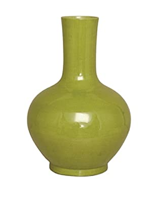 Emissary Ceramic Large Bulb Vase (Chartreuse)