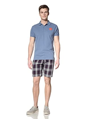 GANT by Michael Bastian Men's The M.B. Sun Embroidered Polo (Alice Blue)