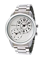 Exotica Analog White Dial Men's Watch (EF-50-Dual-St-W.)