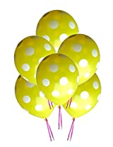 GrandShop 50299 Balloons Polka Dot Extra Large 12 Inch Yellow (Pack of 25)