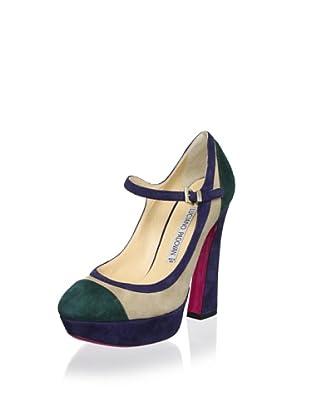 Luciano Padovan Women's Platform Mary Jane (Muschio/Beige)