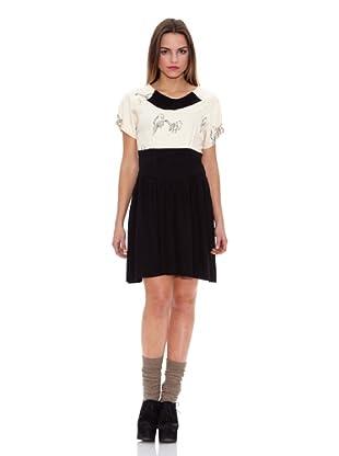 Pepa Loves Vestido Catalina (Blanco / Negro)