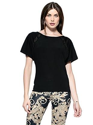 Versace Camiseta Loose (Negro)