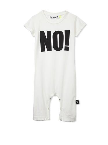 NUNUNU Baby NO! Play Suit (White)