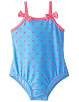 Osh Kosh Baby Girls' Polka Dot 1 Piece, Blue, 12 Months