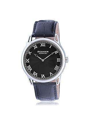 Rudiger Men's R2800-04-007 Ulm Analog Display Quartz Black Watch