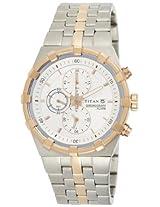 Titan Water Resistant Analog White Dial Men's Watch - NE1537KM01