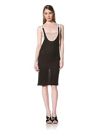 Loomstate 321 Knits Women's Shira Convertible Tank Dress (Grey/Black)