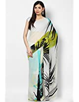 Georgette Off White Saree Satya Paul