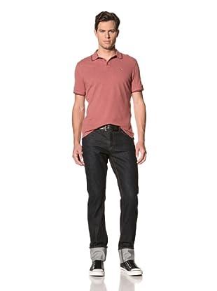 John Varvatos Star USA Men's Crumple Wash Selvedge Jean (Indigo)