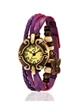 Yepme Women's Bracelet Watch - Cream/Purple