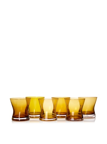 Artland Set of 6 Soho DOF Glasses, Amber