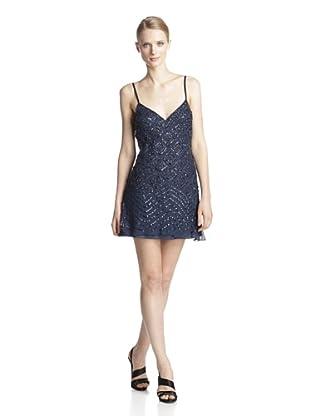 Basix Black Label Women's Beaded Slip Dress (Navy)
