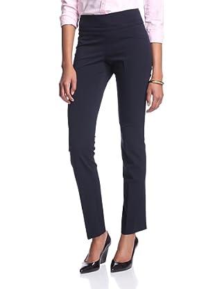 Josie Natori Women's Flat Front Pant (Midnight Navy)