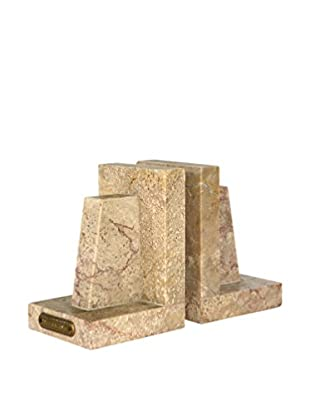 Uptown Down Previously Owned Set of 2 Deco-Style Marble Bookends