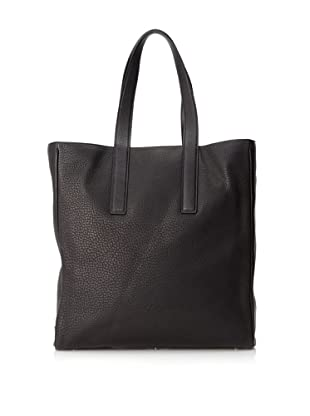 Calvin Klein Collection Men's Leather Hook Tote (Black)