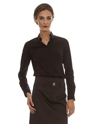 Trussardi Camisa Camisola Con Pliegues (negro)