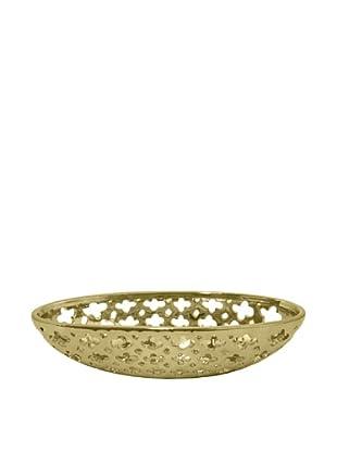 Three Hands Clover Cutout Ceramic Bowl