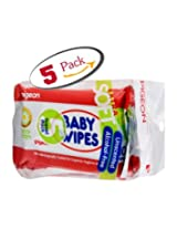 Pigeon 5 in 1 Baby Wipes, Cham and Rose (10 Sheets)