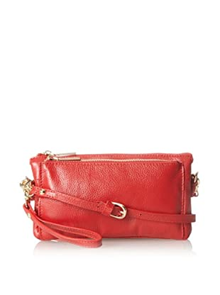 Zenith Women's Convertible Cross-Body Clutch, Red